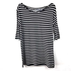 NWT O'Neill Crescent Boatneck 3/4 Sleeve Tee Small